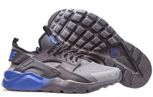 Nike Air Huarache Ultra серые с синим (40-44)
