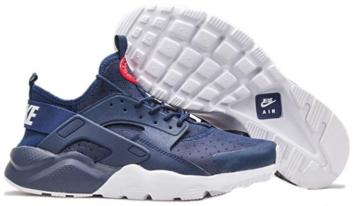 Nike Air Huarache Ultra синие с белым (40-44)