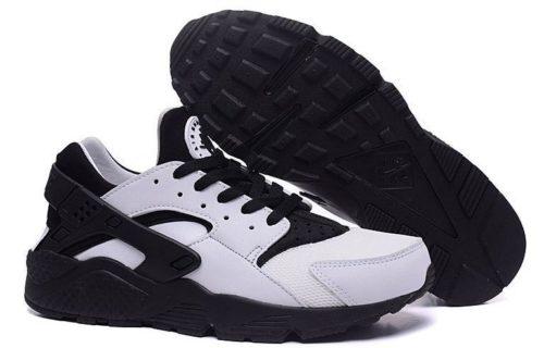 Nike Air Huarache белые с черным (35-44)