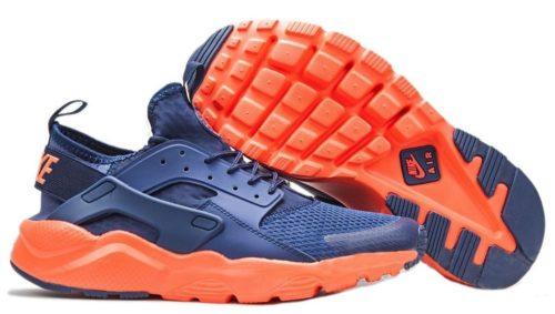 Nike Air Huarache Ultra синие с оранжевым (40-44)