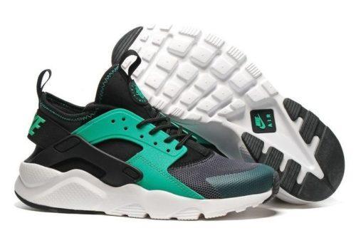 Nike Air Huarache Ultra Черно-зеленые (40-44)