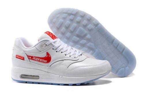 Nike Air Max 87 Supreme белые с красным (40-45)