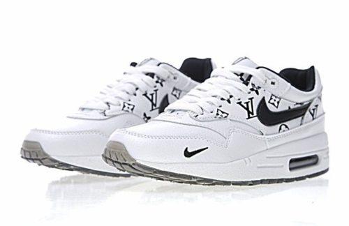 Nike Air Max 87 Louis Vuitton белые с черным (40-45)