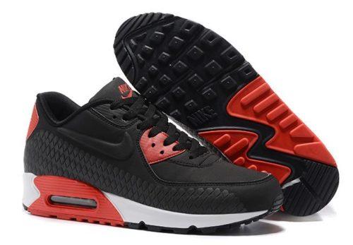 Nike Air Max 90 замша черные с красным (40-44)