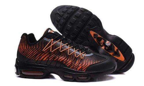 Nike Air Max 95 Ultra Jacquard черные оранжевые (40-45)