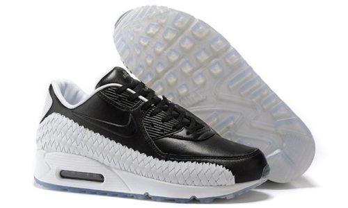 Nike Air Max 90 Woven черно-белые (40-45)