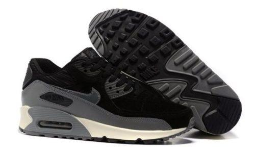 Nike Air Max 90 черные с серым (40-44)