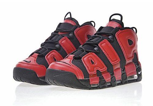 Nike Air More Uptempo черные с красным 40-45