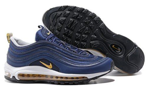 Nike Air Max 97 синие с золотым (40-45)