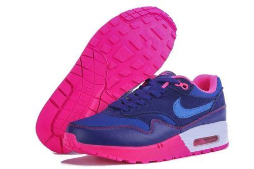 Nike Air Max 87 синие с розовым 35-40