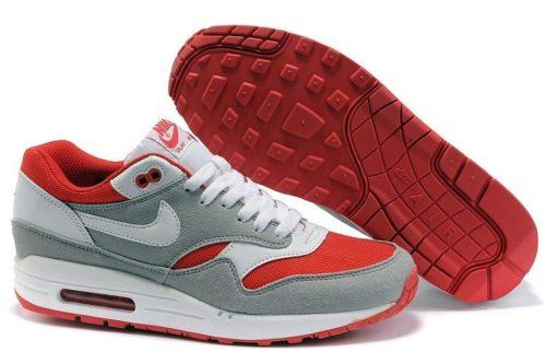 Nike Air Max 87 серые с красным 35-40