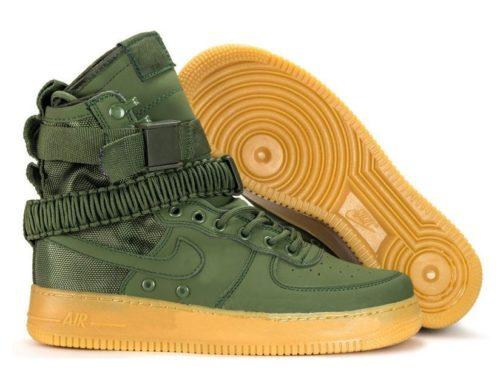 Кроссовки Nike Air Force 1 SF green зеленые (40-45)