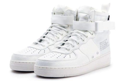 Кроссовки Nike Air Force 1 SF Mid white белые (40-45)