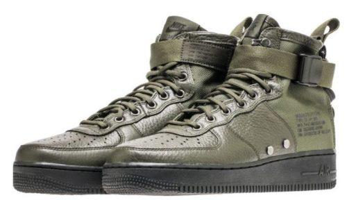 Кроссовки Nike Air Force 1 Mid green зеленые (40-45)