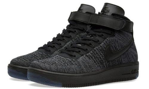 Nike Air Force 1 Flyknit черные (40-45)