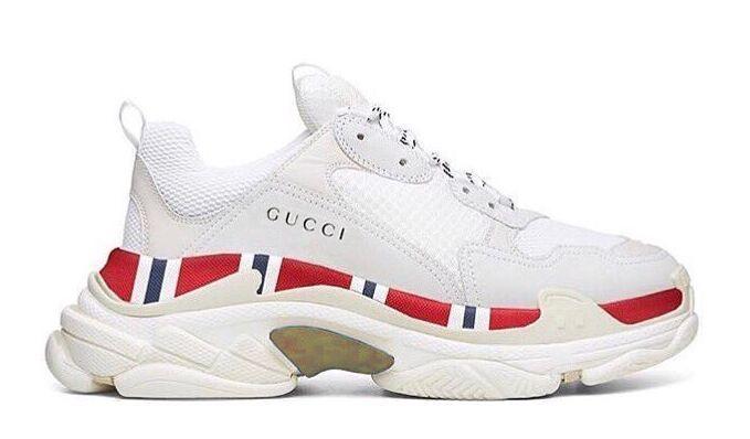 Balenciaga Triple S Gucci белые (36-44) — купить в Москве в интернет-магазине step-man.com