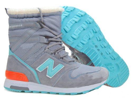 Сапоги New Balance Snow Boots серые с бирюзовым 36-40