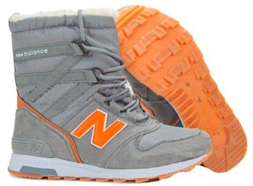 Сапоги New Balance Snow Boots серые с оранжевым 36-40