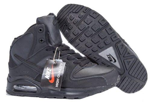 зимние Nike Air Max Skyline High с мехом черные 40-45