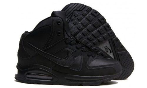 зимние Nike Air Max Skyline High с мехом Black черные 40-44