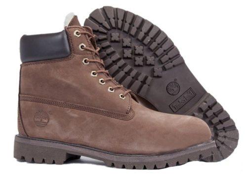 Ботинки Timberland Classic нубук темно-коричневые 36-46
