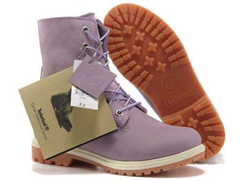 Ботинки Timberland Teddy Fleec фиолетовые с мехом 35-40