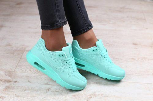 Бирюзовые женские кроссовки