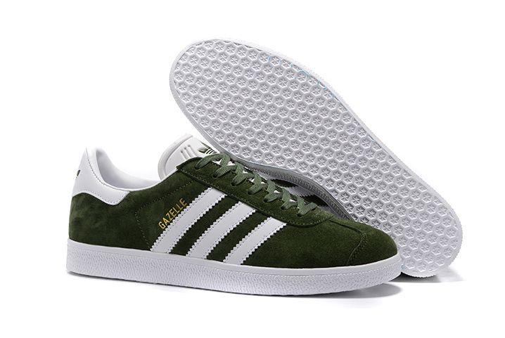 adidas-gazelle-suede-olive-greenwhitegold