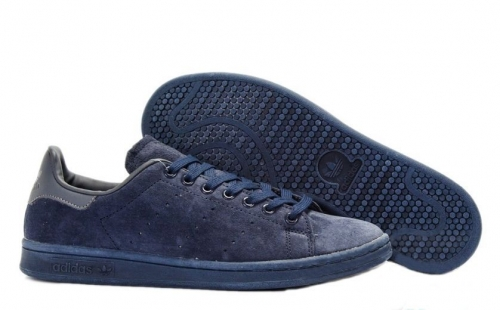 adidas-stan-smith-suede-deep-blue