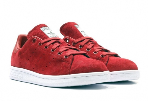adidas-stan-smith-suede-redwhite
