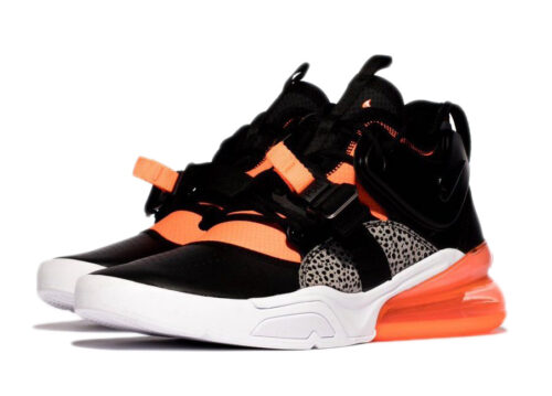 Nike Air Force 270 черные-серые-оранжевые