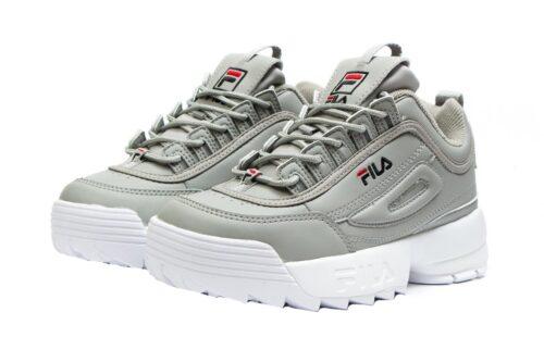 Серые кроссовки Fila