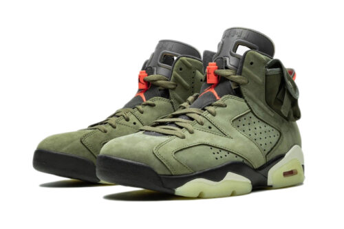 Nike Air Jordan 6 Travis Scott зеленые
