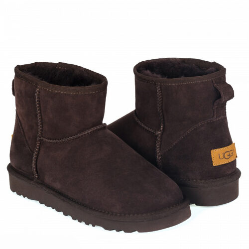 UGG Bailey Classic II button Chocolate Min