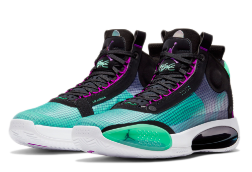 Nike Air Jordan 34 черно-зеленые