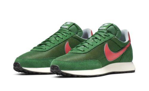 Зеленые замшевые кроссовки