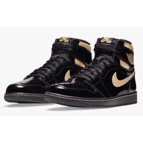 Nike Jordan 1 Retro High Black Metallic Gold
