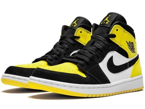 Nike Air Jordan 1 Mid Se Yellow Toe