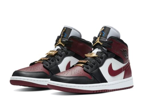 Nike Air Jordan 1 Mid SE Black Dark Beetroot