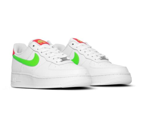 Nike Air Force 1 '07 Laser Crimson Green Strike